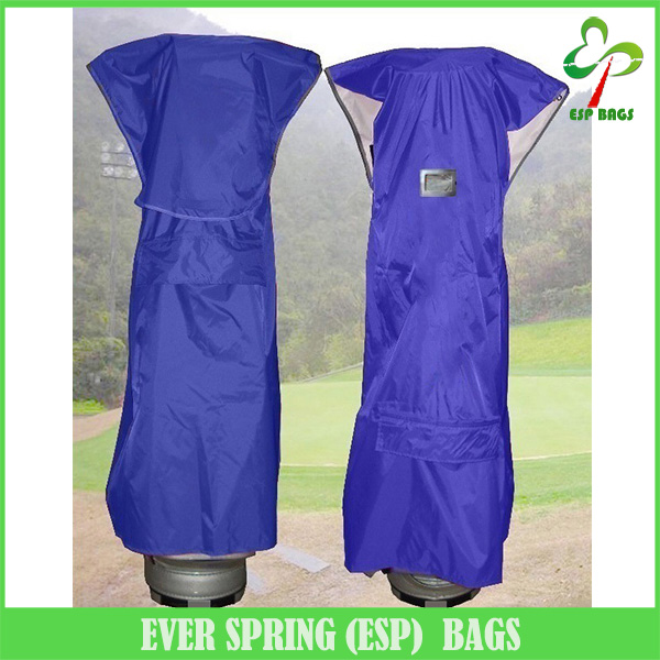 OEM durable waterproof golf bag travel rain cover with name card window