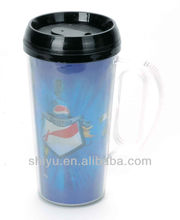 BPA Free Double Wall Plastic Travel Cup, Travel Mug