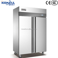 Hotel double door upright deep freezer vertical