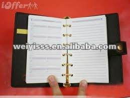 2012 HOT popular loose-leaf pu agenda for promotion