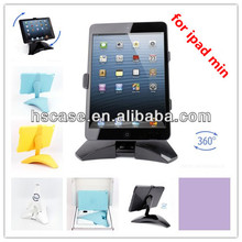 360 Degree Rotating Foldable Stand Bracket with Slim Plastic Protective Case for iPad Mini