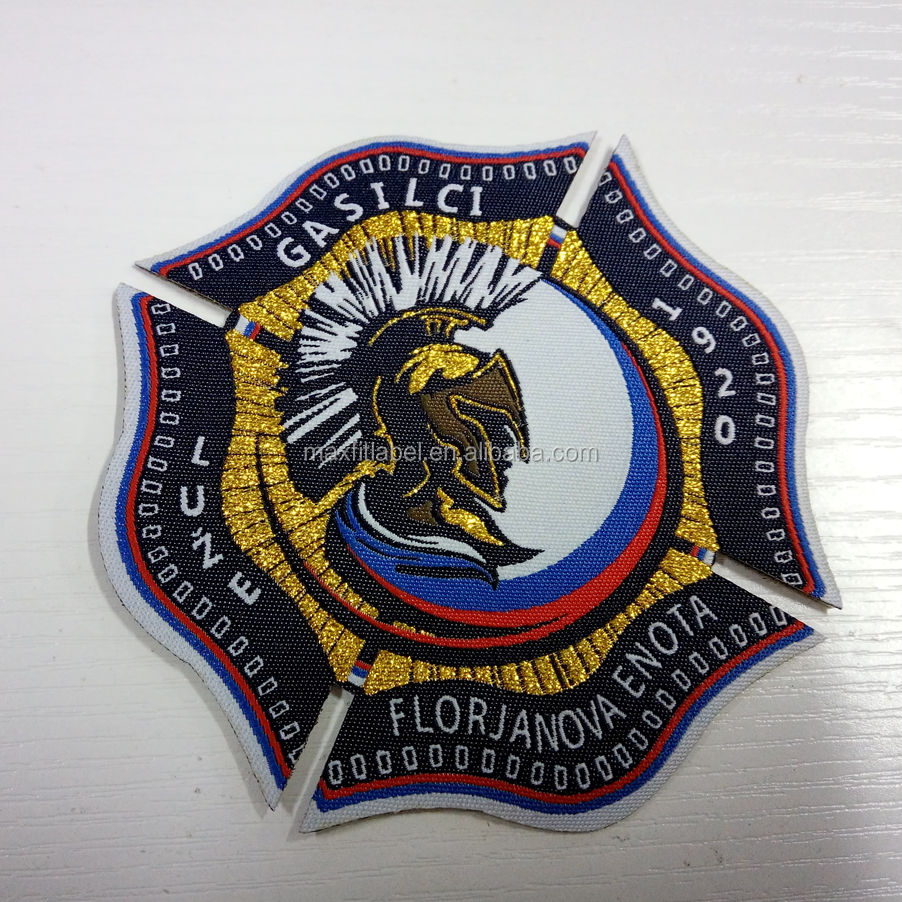 2017 custom high quality clothing woven patch badges
