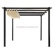 3*4 M Outdoor Steel Pergola Gazebo with Canopy Shades