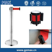 stainless steel railing stand post , Retractable stanchion, concert crowd control barrier