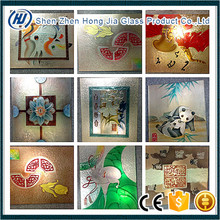 Top quality reasonable price 3d glass mural