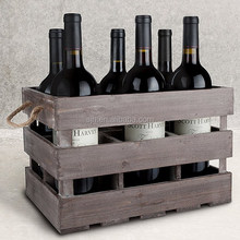 Heze Factory Wholesale Shabby Chic Vintage Home Decor Wine Wooden Crates