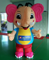 inflatable advertising cartoon / inflatable elephant balloon / inflatable pink elephant for sale