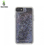 Wholesale Tpu PC liquid glitter transparent bling phone case for iPhone6 7 8