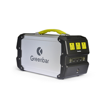 Portable outdoor solar generator 220v with lithium ion battery