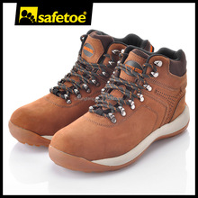 Elegant rubber safety boots rubber sole safety shoes nubuck leather safety footwear