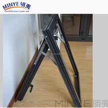 Factory price industrial latest simple designs aluminium steel top hung window
