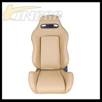 High Quality Universal Beige Sport Racing Seat, Performance Automatic Car Seat Leather