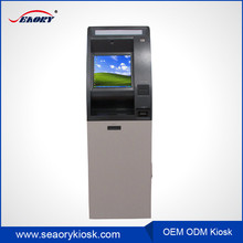 2016 new product cash acceptor and QR printer atm bitcoin payment kiosk machine