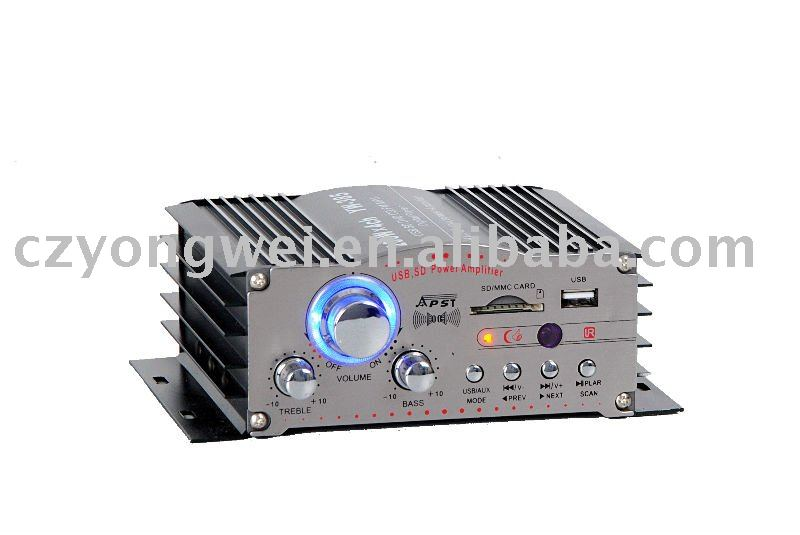 YW-385 bluetooth car amplifier tube mono block power amplifier