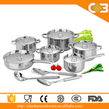 15pcs new products multi function stainless steel cookware for induction cooker