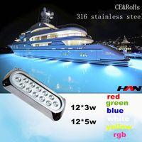 IP68 multi color led swimming pool light/led surface mounted pool light/submersible led light for swimming pool 12v