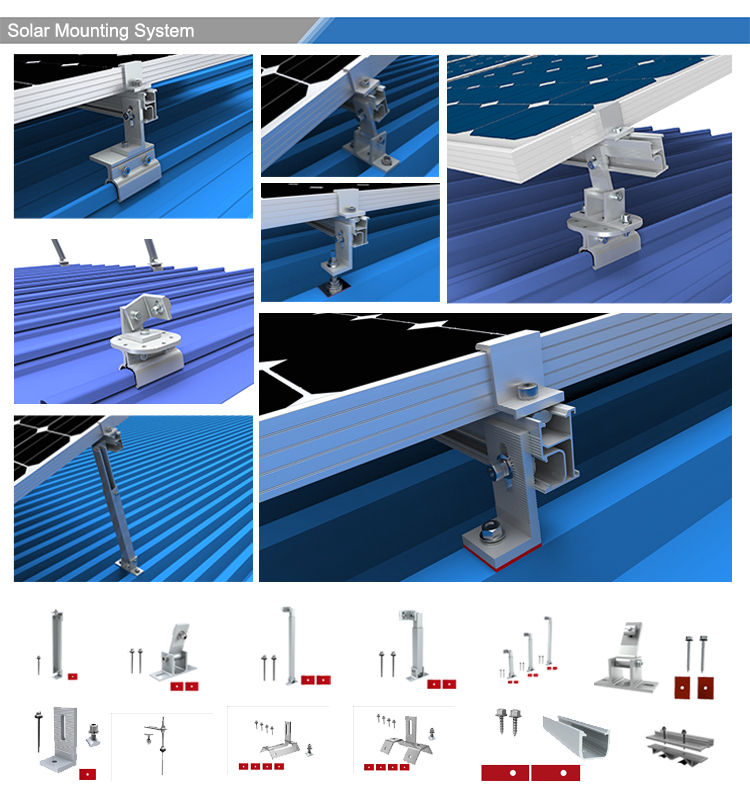 Hot Sale Solar Tin Roof Mount Systems for Solar Module