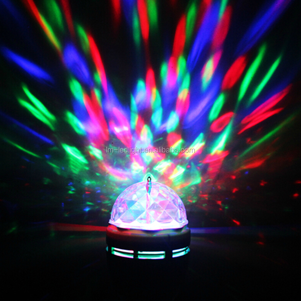 E27 6w RGB Led Bulbs Mini Party Light Dance Party Lamps Auto Rotating DJ Stage Disco Christmas Lighting Color Bulb For Dancing