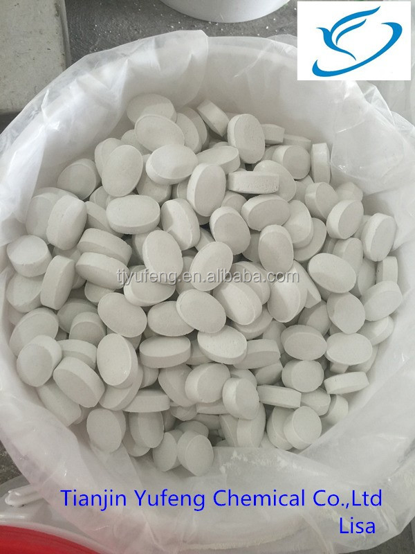 chlorine tablet 65%-70% for swimming pool