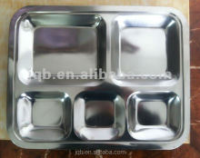 High quality stainless steel divided food tray for kids