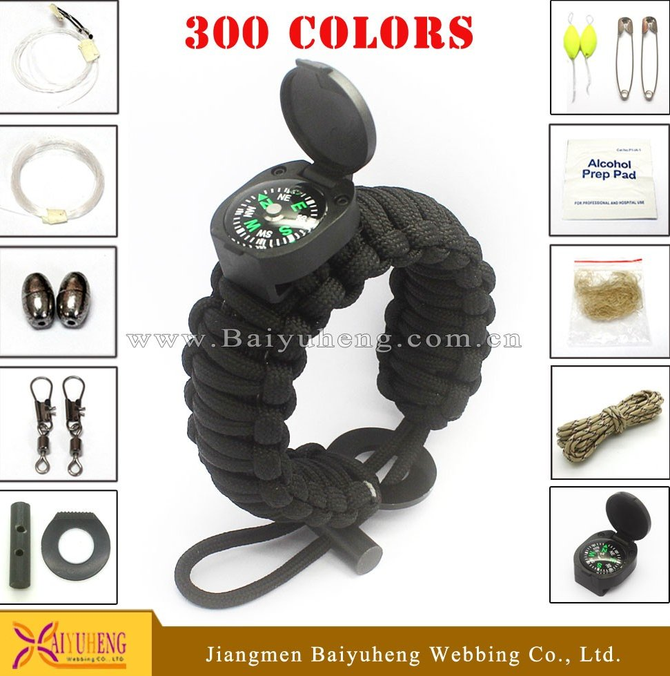 most popular diy paracord survival emergency bracelet hiking camping
