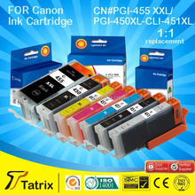 Hot selling ink cartridge for Canon PGI 455/PGI 450/CLI 451 compatible for Canon 6340