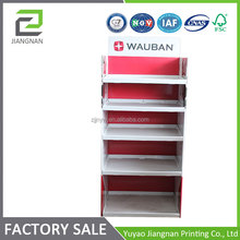 5 tiers full color cardboard book display stand