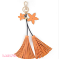 Whole sale beautiful Bag Charm Key Chain Leather Tassel Keychain For Gift