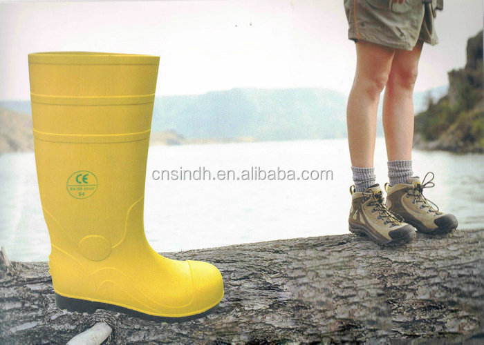 Puncture Resistance PVC Chemical Boots Industrial Safety Shoes