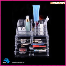 High Quality acrylic clear cube 3 Drawer Makeup drawer storage organizer