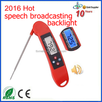 2016 Newest Digital Talking Cooking Meat Thermometer with Backlight, Food Meat Thermometer