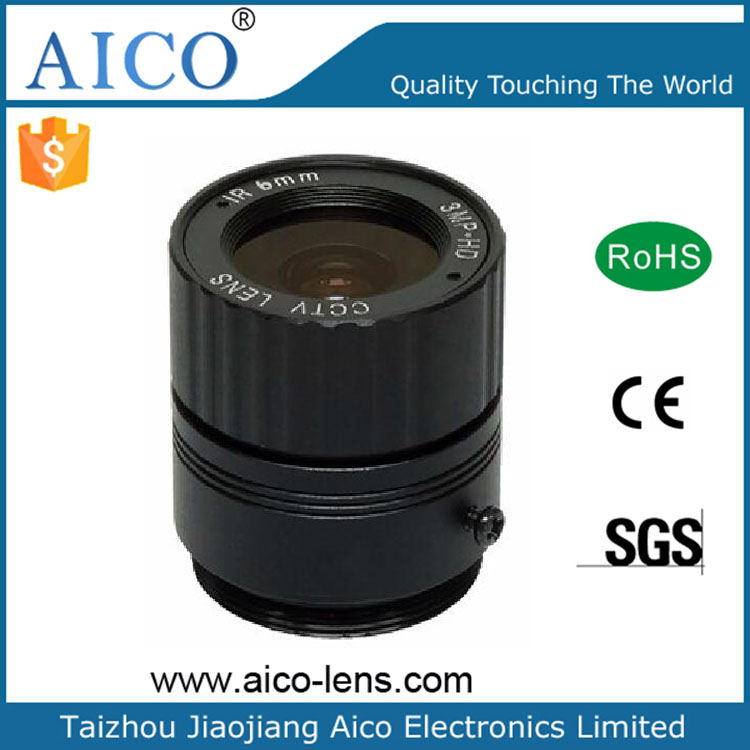 "China Megapixel 1/2.5"" 3mp 6mm F1.2 CS mount cctv lens"