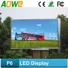 Easy install full color and video function P6 led panel
