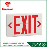 abs led exit sign light 2 lights , double-legend edge lit exit sign