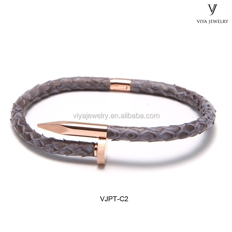 Special Python nail design bangle and stainless steel nail bracelet and latest gold bangle designs