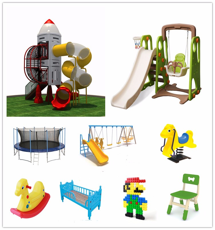 Prolongado do urso do bebê plástico slides com swing playset interior