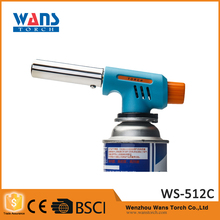 CE certification WS-512C metal paint inverted use windproof inflatable butane lighter