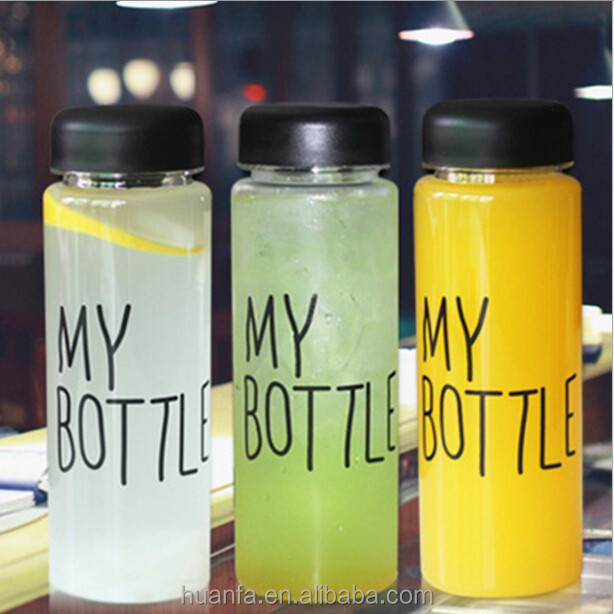 Top selling product drinking water bottles BPA free plastic infuser water bottle,logo customized 500ml My bottle with fabric bag
