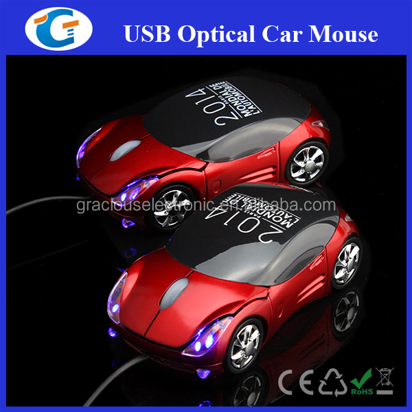 wired optical usb computer mouse car design