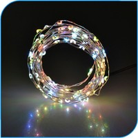 Christmas Decoration Promotion Adapt Powered Cool White String Led Christmas Lights