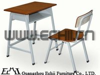 Durable metal school furniture, cheap desk and chair
