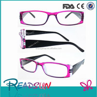 2015 fancy promotional plastic reading glasses