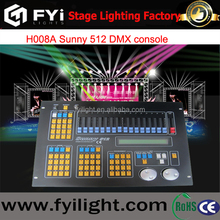 Hot selling H008A stage light controller sunny DMX 512 controller/Console