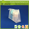 Chinese manufacturer beautiful slide frosted zipper bags with handle