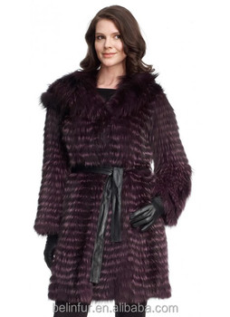 Fashion design lady's down jacket with fox fur coat