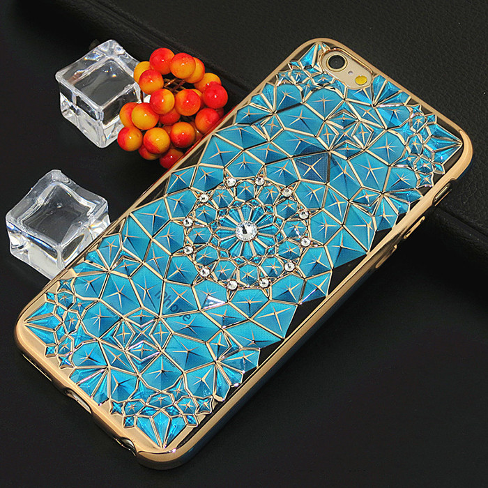 2016 Newest Luxury Diamond Metal Bumper for iPhone 7, Case Skin Cover Mobile Accessories for iPhone 6