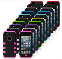 high quality New Stylish cheap silicone+pc Case for iPhone 5c,for iphone 5c Case Cover--Laudtec