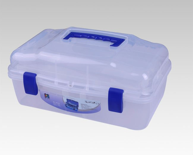 13'' Hard plastic transparent equipment tool case
