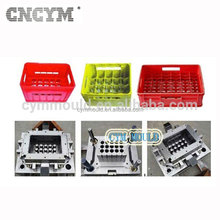 High Quality customer made mold design injection molding plastic cheap price 24 bottles plastic beer milk fishing crate mould