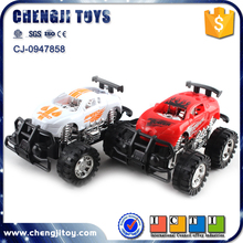 Plastic friction vehicle toys big wheels off road inertial cars drift king game car racing for kids